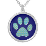 cat paw print personalized necklace
