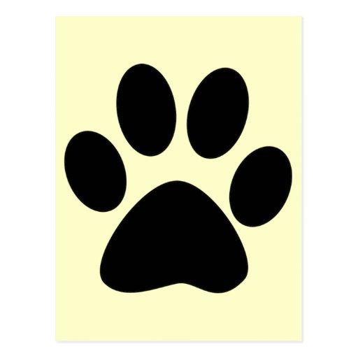 Cat Paw Print Postcard Zazzle