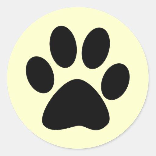 Cat Paw Print Round Sticker