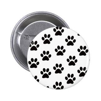 Cat Paw Prints Button
