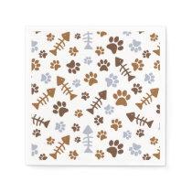 Cat Paw Prints Pattern Napkin
