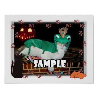 Cat Paw Prints Photo Frame Posters