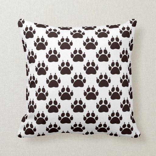 Cat Paw Prints Throw Pillow Zazzle