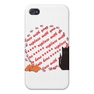 Cat Paw s Photo Frame iPhone 4 Cases
