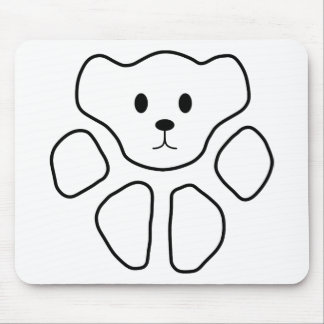 Cat Paw, Teddy Bear 1 Mouse Pad