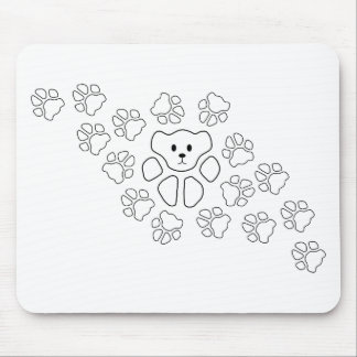 Cat Paw, Teddy Mouse Pad