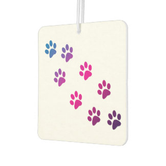 Cat Paws Blue Pink Purple Car Air Freshener