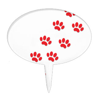 Cat Paws Feet Cake Topper