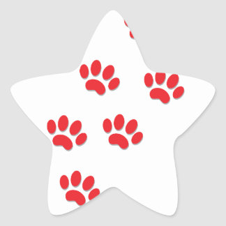 Cat Paws Feet Star Sticker