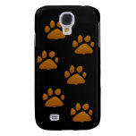 cat paws on black galaxy s4 cover