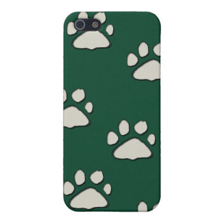 cat paws on green case for iPhone SE/5/5s