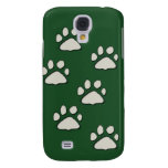 cat paws on green samsung galaxy s4 cover