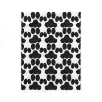 Cat paws pattern fleece blanket
