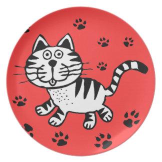 CAT PAWS  PLATTER MELAMINE PLATE