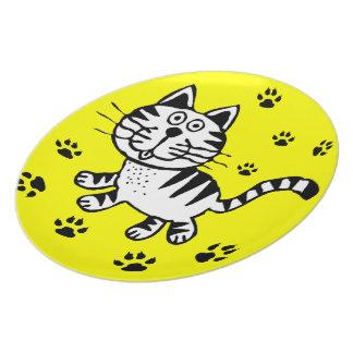 CAT PAWS  PLATTER PLATE