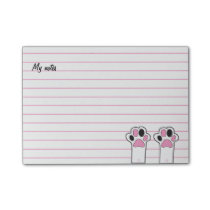 Cat paws post-it notes