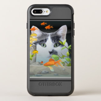Cat Peering in Fish Tank OtterBox Symmetry iPhone 7 Plus Case