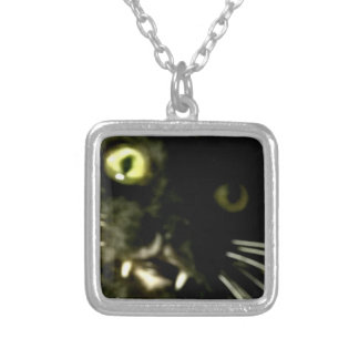 Cat pendent silver plated necklace