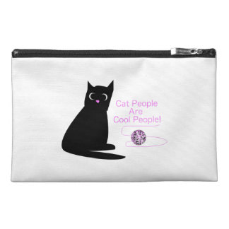 Cat People Are Cool People Travel Accessory Bag