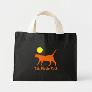 Cat People Rock Mini Tote Bag
