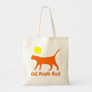 Cat People Rock Budget Tote Bag