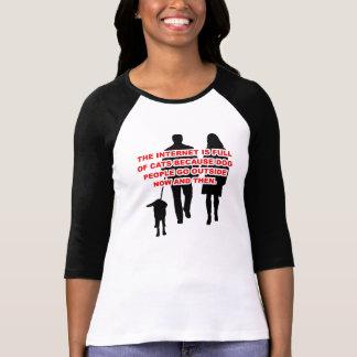 Cat People Versus Dog People Funny T-Shirt