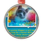 Cat: Pepper Metal Ornament