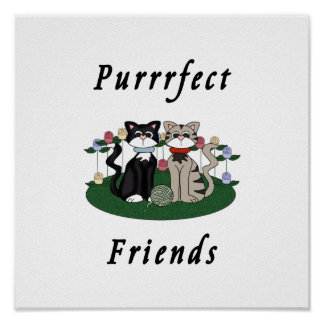 Cat Perfect Friends Poster