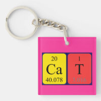 Chemistry cat accessories zazzle cat periodic table name keyring urtaz Image collections