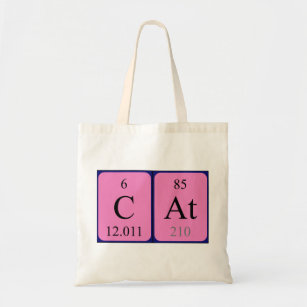 Chemistry cat accessories zazzle cat periodic table name tote bag urtaz Image collections