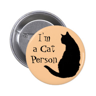 Cat Person 2 Inch Round Button