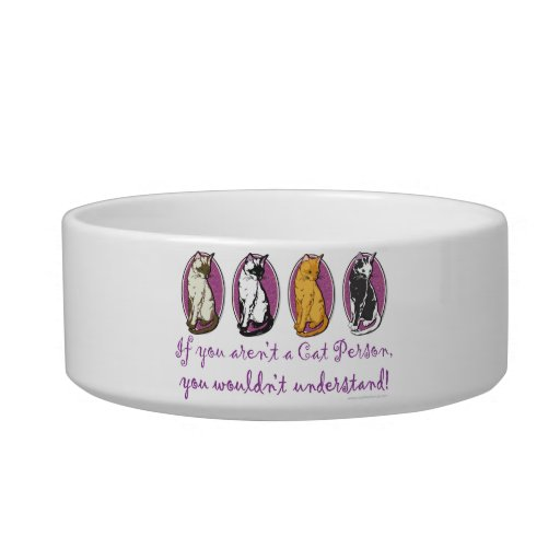 Cat Person Cat Water Bowl