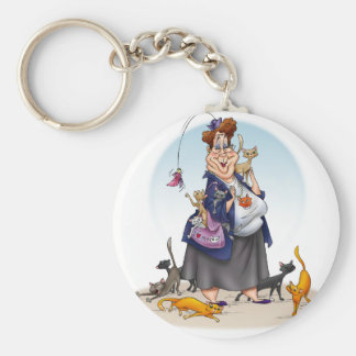 cat person keychains
