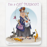 cat person mouse pad