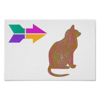 CAT Pet Animal WISDOM Lowprice RELATE 2WORDS Poster