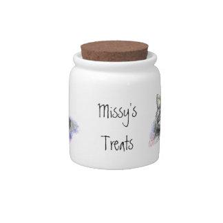 Cat, Pet, Custom Name Kitten Treat Jar, Candy Dishes