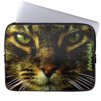 Cat Pet Hypnotizing Eyes Photo Text Computer Sleeve