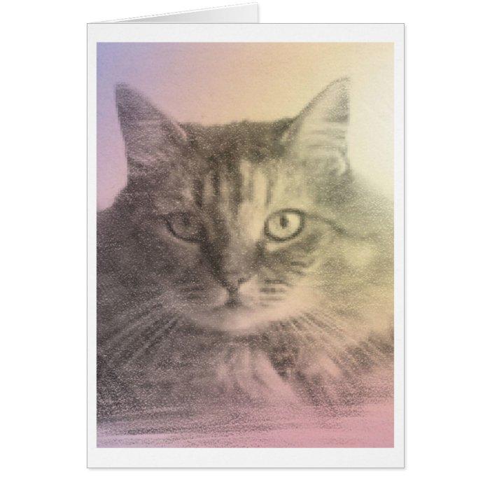cat pet loss card