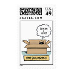 Cat Philosophy Postage Stamp