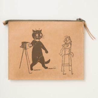 Cat Photographer Making Kitten Portrait Travel Pouch
