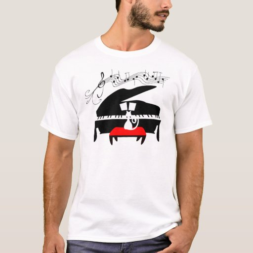 Cat Playing Grand Piano T-Shirt