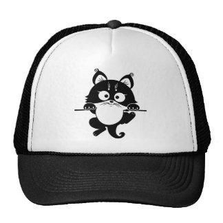 cat picture hanging trucker hat