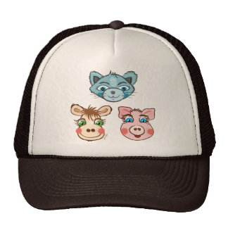 Cat Piggy and Cow hat - TBA