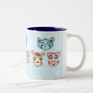 Cat Piggy and Cow mug
