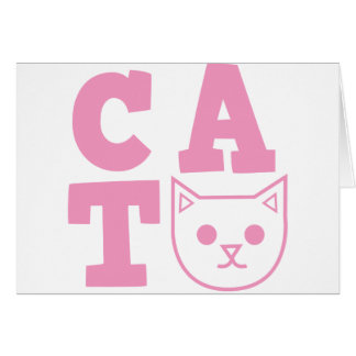 CAT pink Card