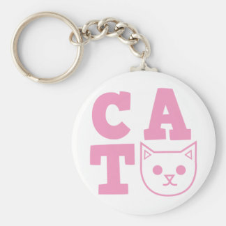 CAT pink Keychain