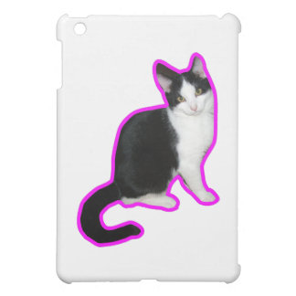 Cat pink outline cover for the iPad mini