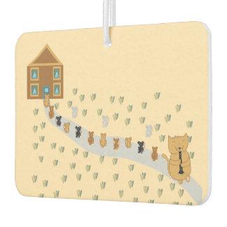 Cat Pipe Landscape Rectangle Air Freshener