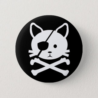 Cat Pirate Button