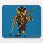 Cat pirate funny mousepad design